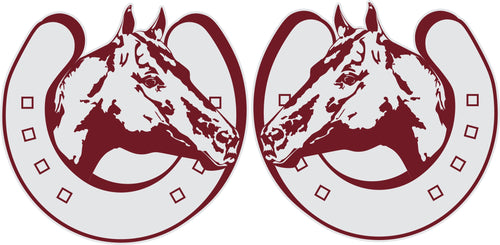 Horse in Horseshoe Sticker (Pair)