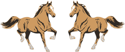 Quarter Horse Stallion Sticker (Pair)