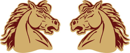 Wild Horse Head Sticker (Pair)