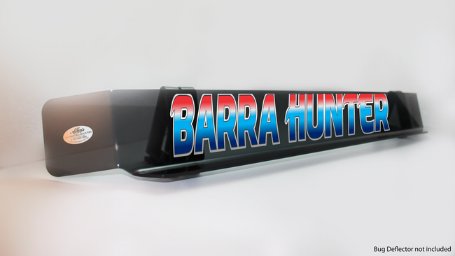 'Barra Hunter' Bug Deflector Name Sticker