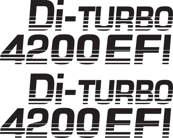 Landcruiser Di Turbo 4200 EFI  Sticker
