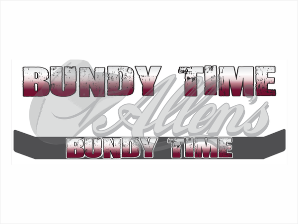 'Bundy Time' Bug Deflector Name Sticker