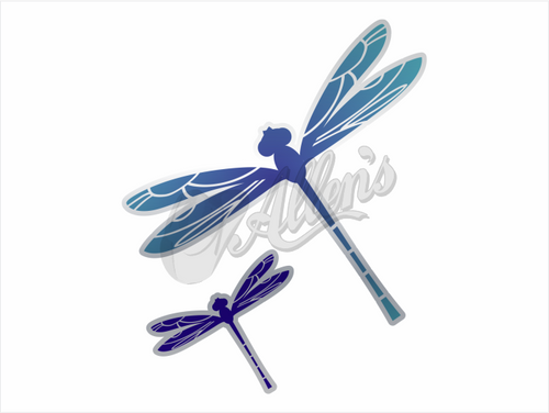 Large & Small Dragonflies Stickers (Pair)