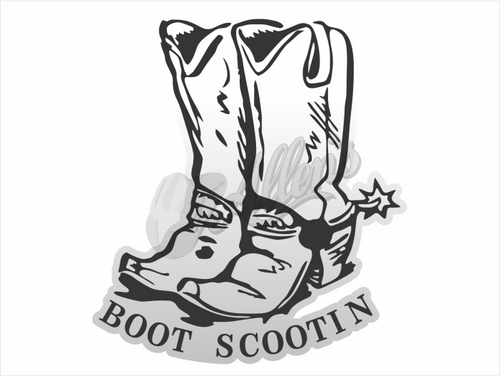 Boot Scootin Cowboy Boots Stickers (Pair)