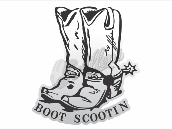'Boot Scootin' Sticker (Pair)
