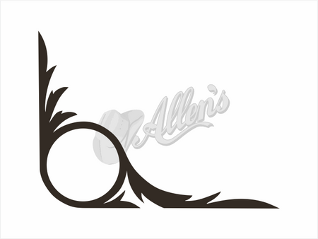 Antler Scroll Sticker (Pair)