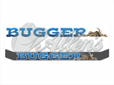 'Bugger' Bug Deflector Name Sticker