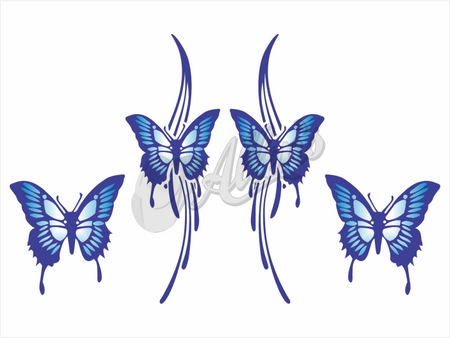Tribal Butterfly Sticker (Set)