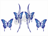 Butterfly Wave Sticker (Set)