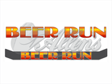 'Beer Run' Bug Deflector Name Sticker
