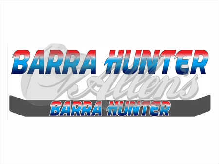 'Barra Hog' Bug Deflector Name Sticker