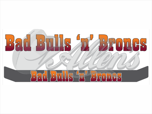 'Bad Bulls 'n' Broncs' Bug Deflector Name Sticker