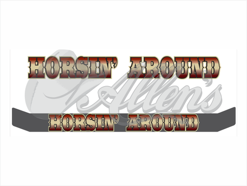 'Horsin' Around' Bug Deflector Name Sticker
