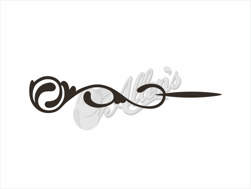 Small Swirl Scroll Sticker (Pair)