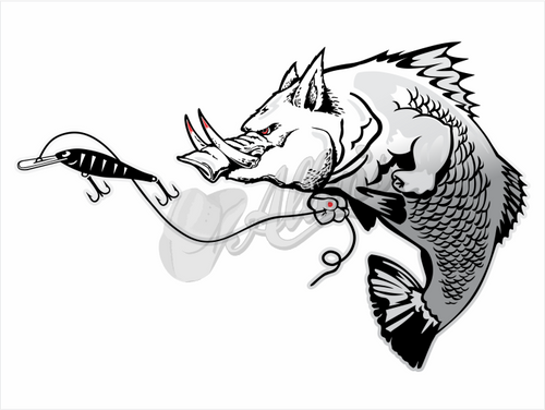 Barra Hog Sticker (Pair)