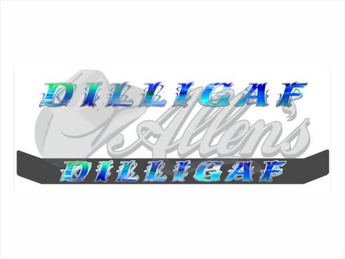 'DILLIGAF' Bug Deflector Name Sticker