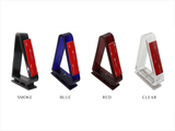 Set of four self-adhesive bug deflector brackets, available in smoke, red, blue or clear.