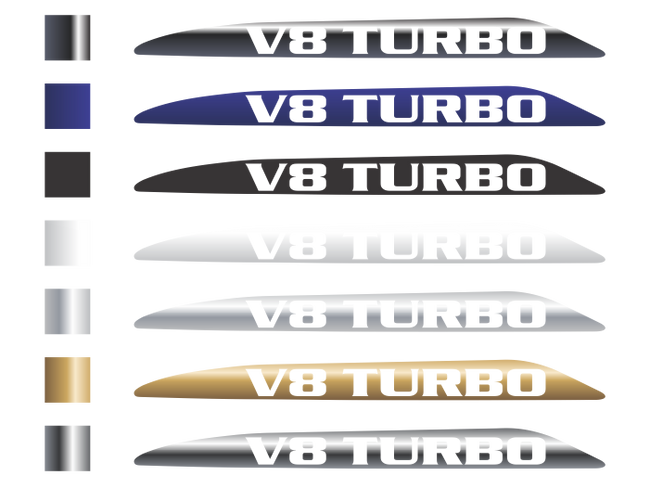 V8 Landcruiser 70 Series Bonnet Scoop Stickers  07-16 & 16 Onwards (Pair)