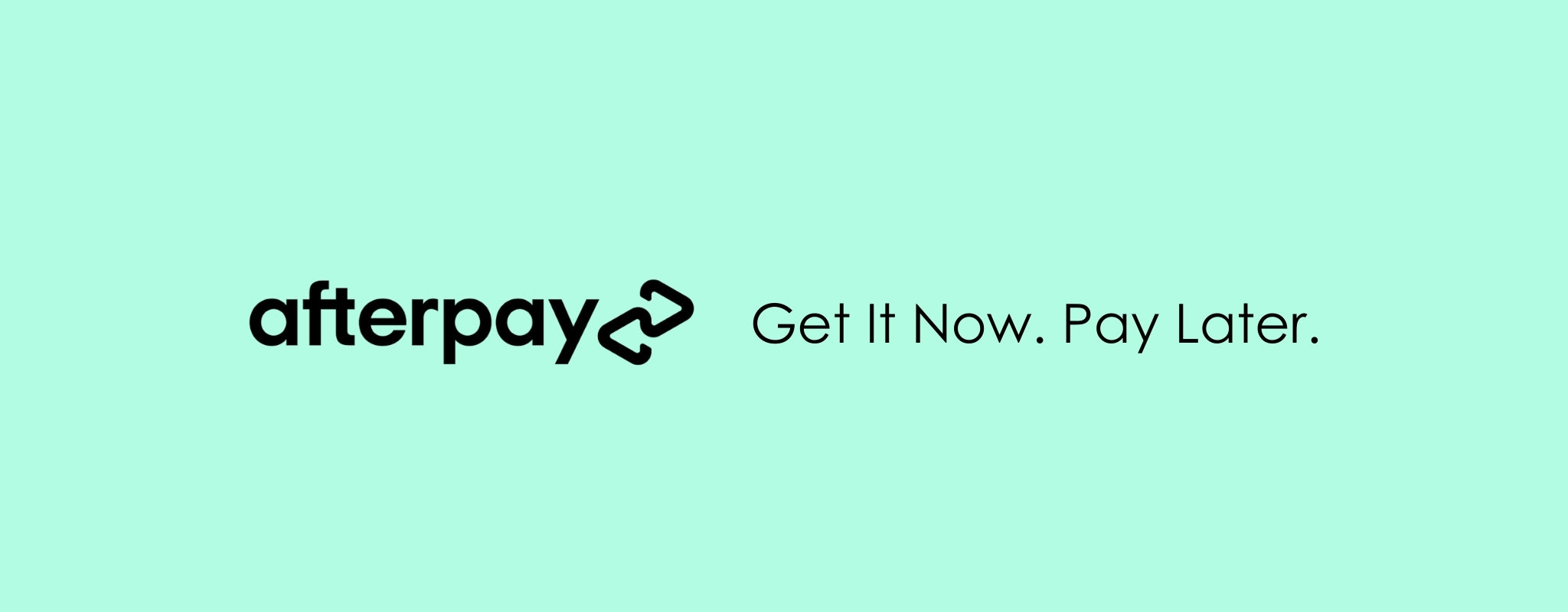 Get it now and pay later with Afterpay at Rose St Trading Co