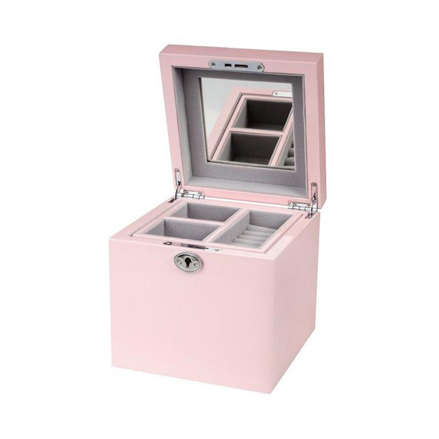 Shop Jewellery Box - Pale Pink Square at Rose St Trading Co