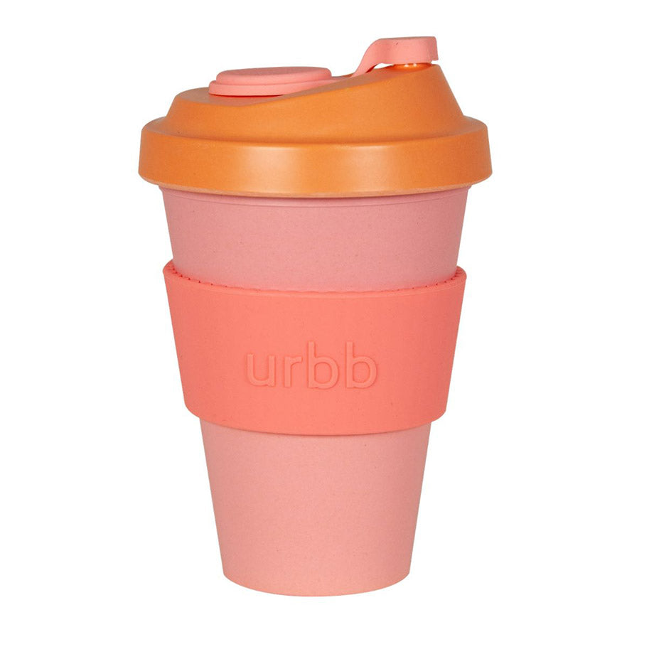 Shop Re-usable Coffee Cup | Pink/Melon/Tangerine at Rose St Trading Co