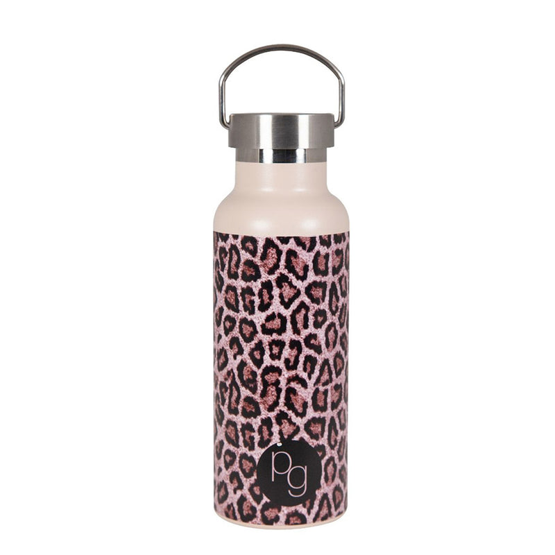 Shop 500ml Insulated Drink Bottle | Brown Leopard at Rose St Trading Co