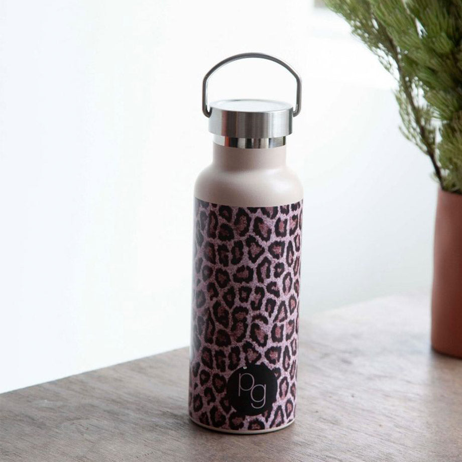 Shop 500ml Insulated Leopard Printed Water Bottle at Rose St Trading Co