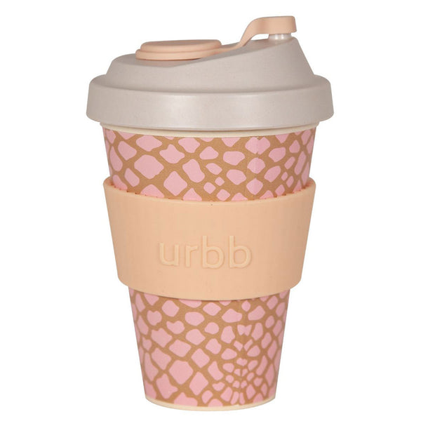 Shop Re-usable Coffee Cup | Taupe/Pink Reptile at Rose St Trading Co
