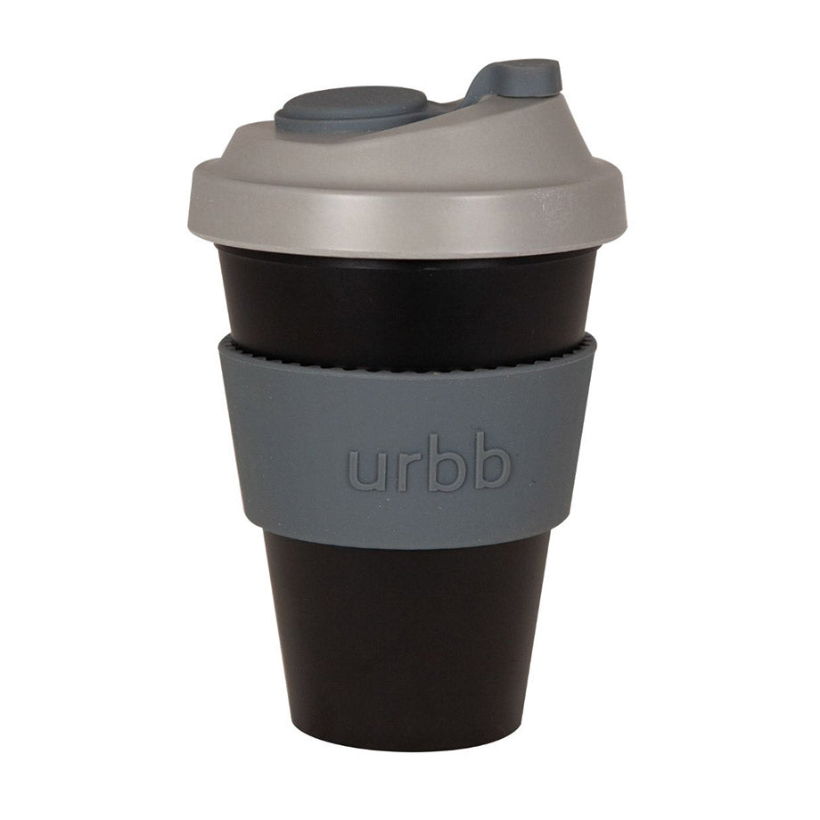 Shop Re-usable Coffee Cup | Black/Grey/Charcoal at Rose St Trading Co