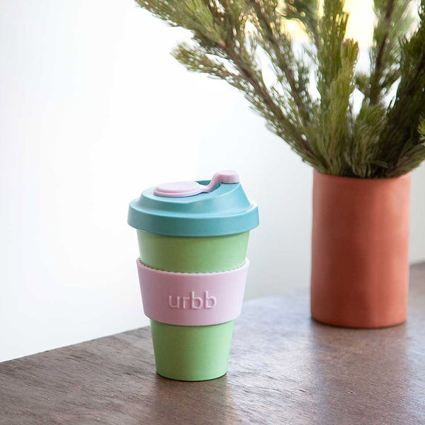 Shop Re-usable Coffee Cup | Mint/Aqua/Lilac at Rose St Trading Co