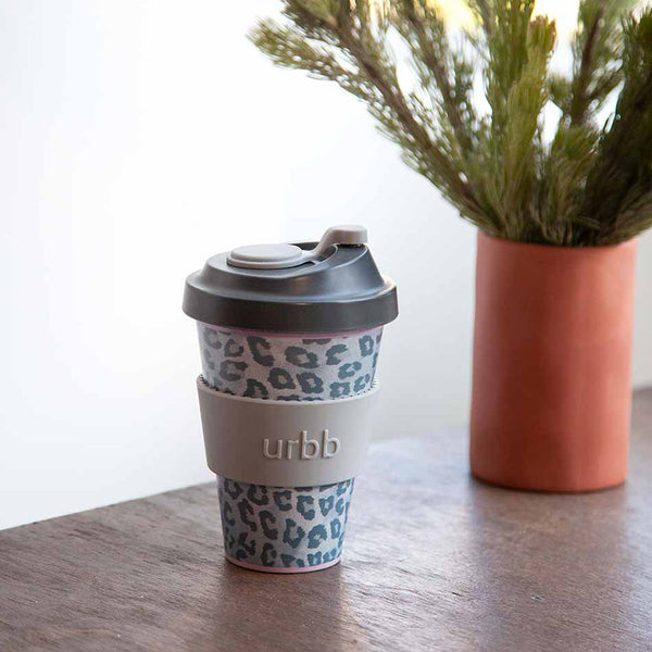 Shop Re-usable Coffee Cup | Snow Leopard at Rose St Trading Co