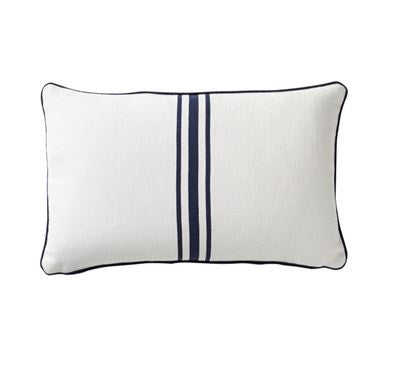 Shop Striped Cotton Cushion | Navy 30 x 50cm at Rose St Trading Co