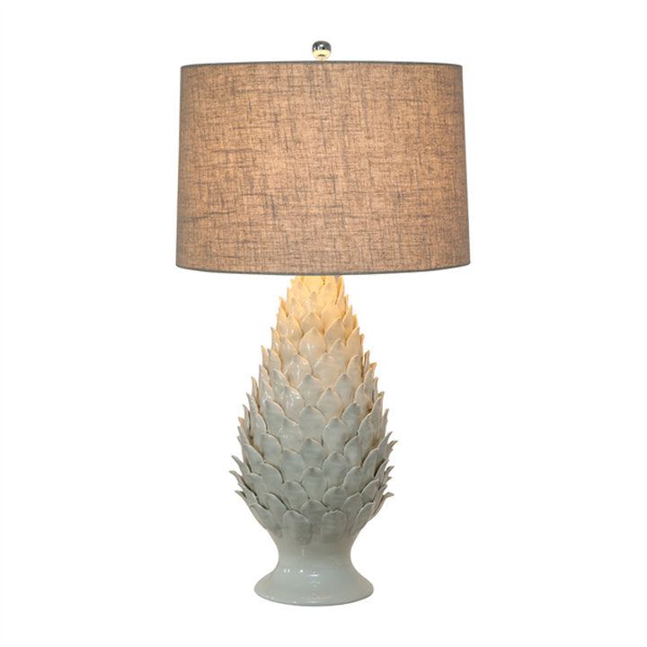 Shop Pine Leaf Ceramic Lamp at Rose St Trading Co