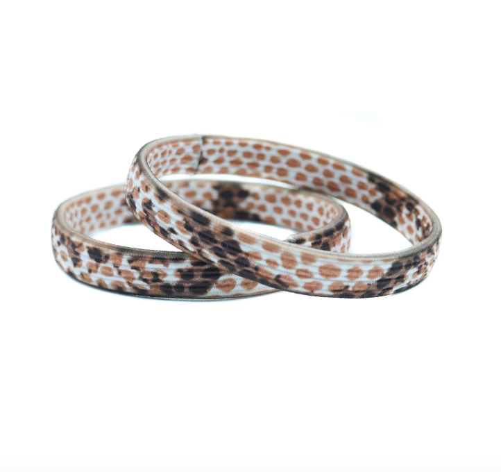 Shop Hair Elastics | Set of 2 Orange Snake at Rose St Trading Co