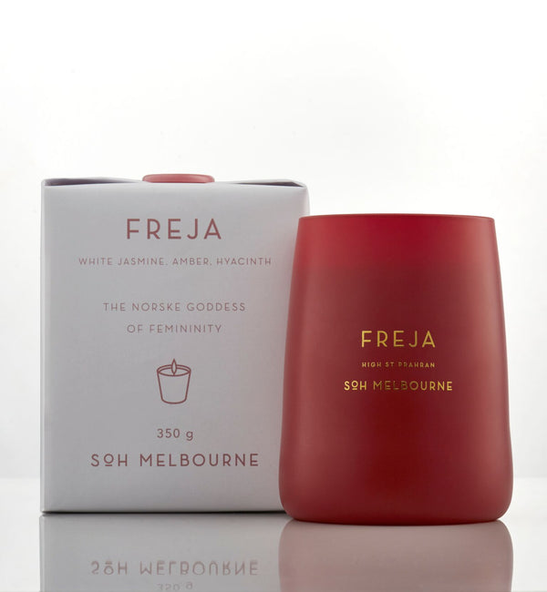 Shop SOH Freja Rouge Matte Glass Candle at Rose St Trading Co