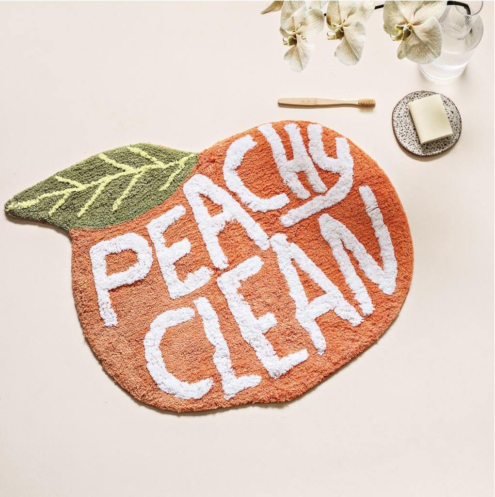 Shop Peachy Clean - Bath Mat at Rose St Trading Co
