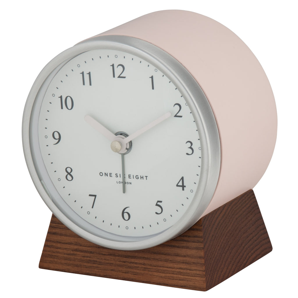 Shop Nina Silent Alarm Clock | Blush at Rose St Trading Co