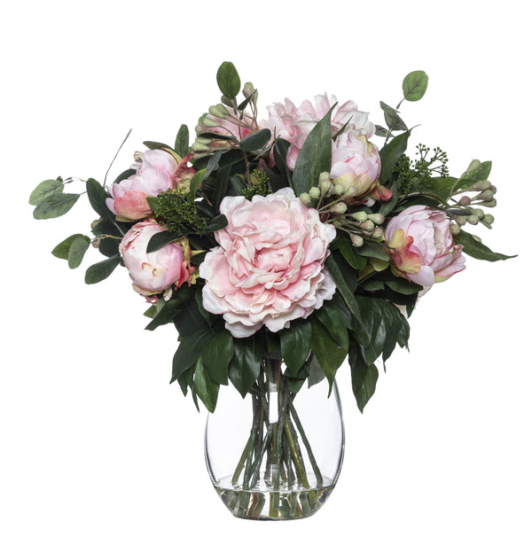 Shop Peony Eucy Mix in Vase 48cm at Rose St Trading Co