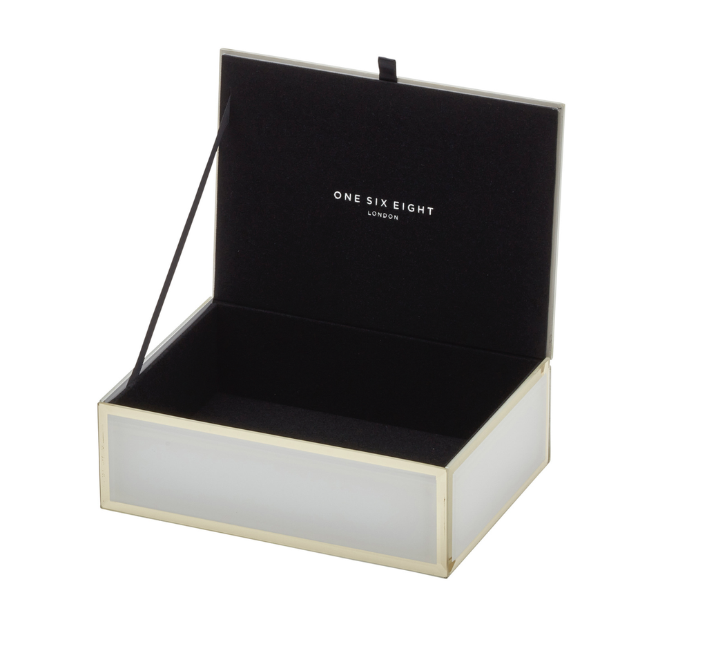 Shop Jewellery Box - Florence White Medium at Rose St Trading Co