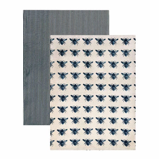 Shop Tea Towel Pack 2/ Blue at Rose St Trading Co