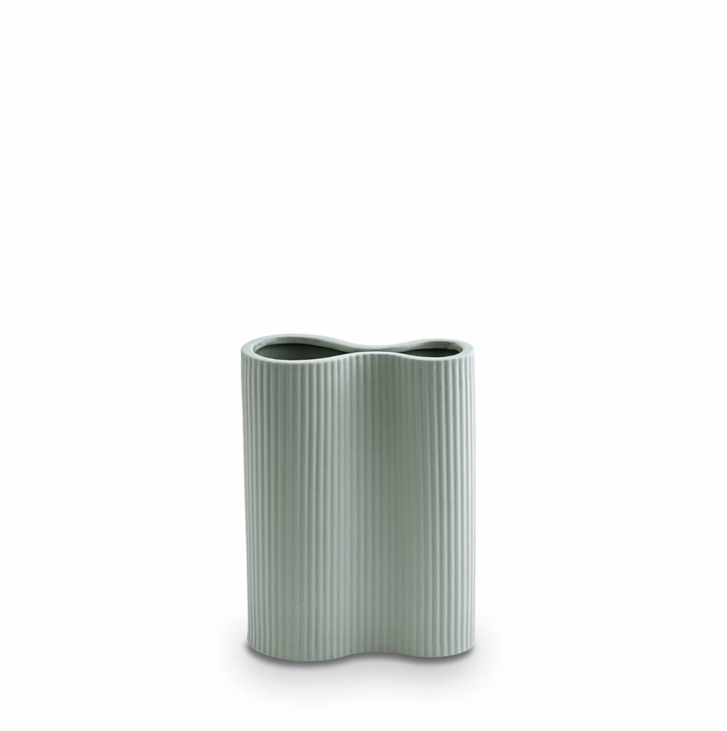 Shop Ribbed Infinity Vase Blue (S) at Rose St Trading Co