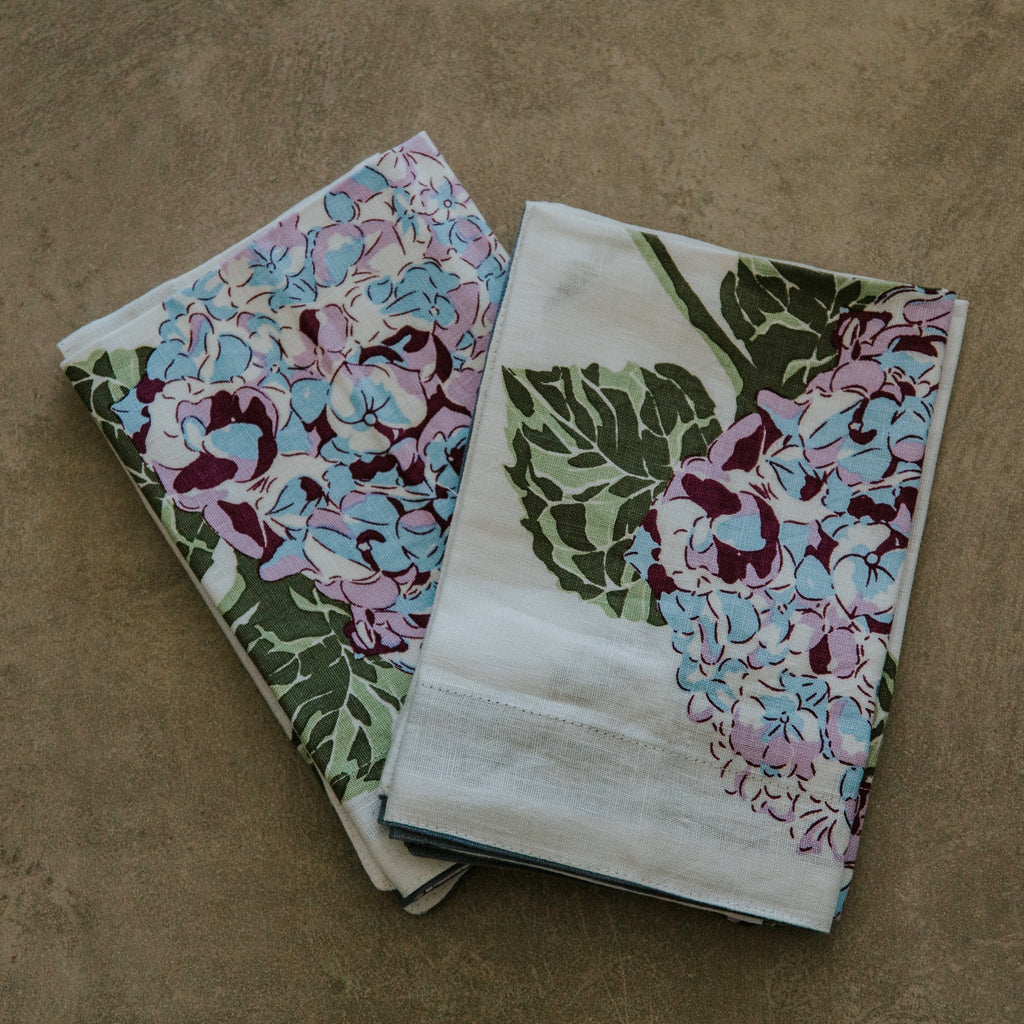 Shop Hydrangea Napkin | Set of Four at Rose St Trading Co