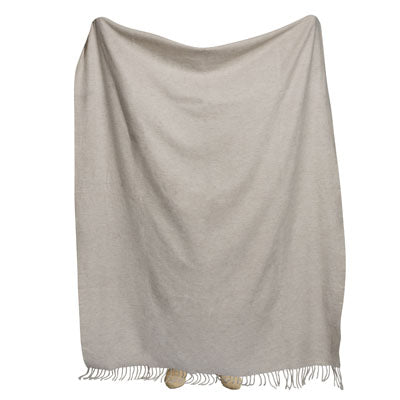 Shop Lambswool Throw- Ivory at Rose St Trading Co