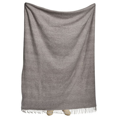 Shop Lambswool Throw- Biscuit at Rose St Trading Co