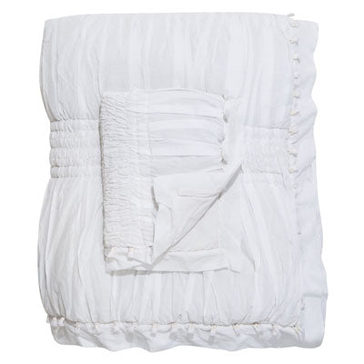 Shop Peggy Quilt Set | White Embroidered at Rose St Trading Co