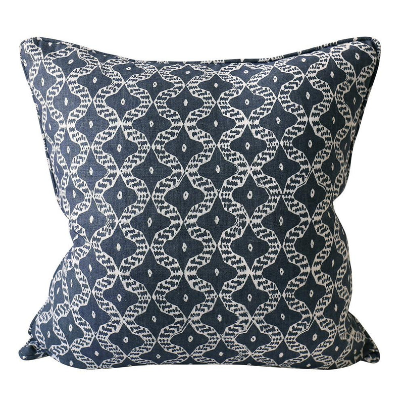 Shop Tulum Harbour Linen Cushion | 50x50cm at Rose St Trading Co