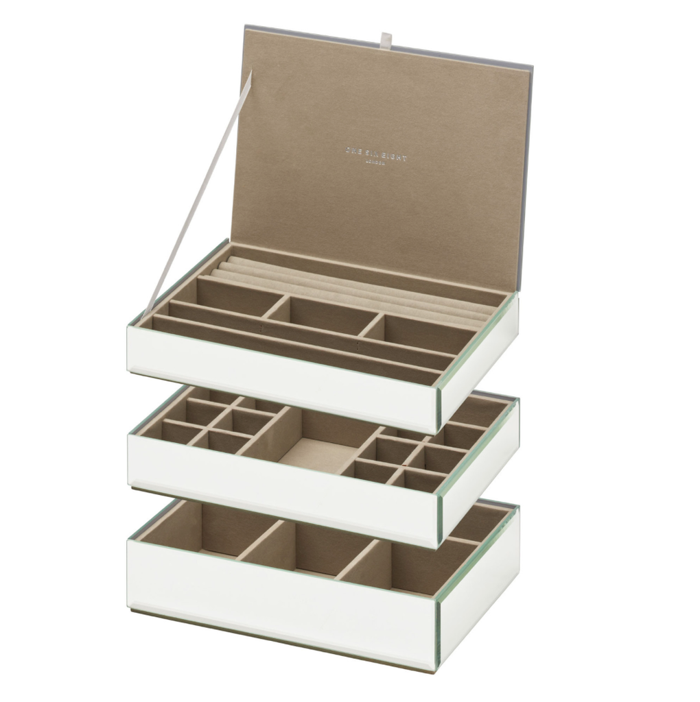 Shop Stackable Jewellery Box Set - Mirror at Rose St Trading Co