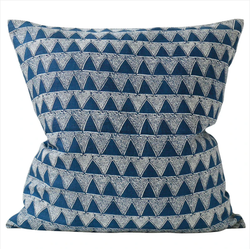 Shop Bantu Indigo Linen Cushion | 55 x 55cm at Rose St Trading Co