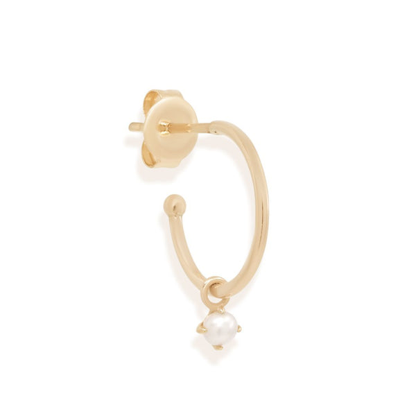 14k Gold Tranquility Hoop - Single