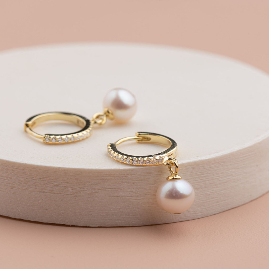Shop Gold Hook with Sparkle + Pearl Drop at Rose St Trading Co